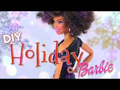 DIY - How to Make: Holiday Barbie Dress PLUS Snowflake Backdrop