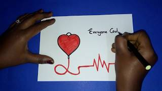 How to draw Blood Donation Day Drawing for kids | Poster for world Blood Donation day