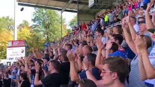 2. Bundesliga 2018/2019 SV Sandhausen-Hamburger SV, HSV Fans Stimmung, Support, Jubel