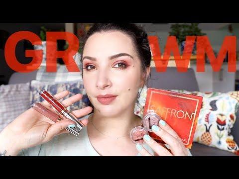 GRWM using SUVA Beauty Saffron Collection