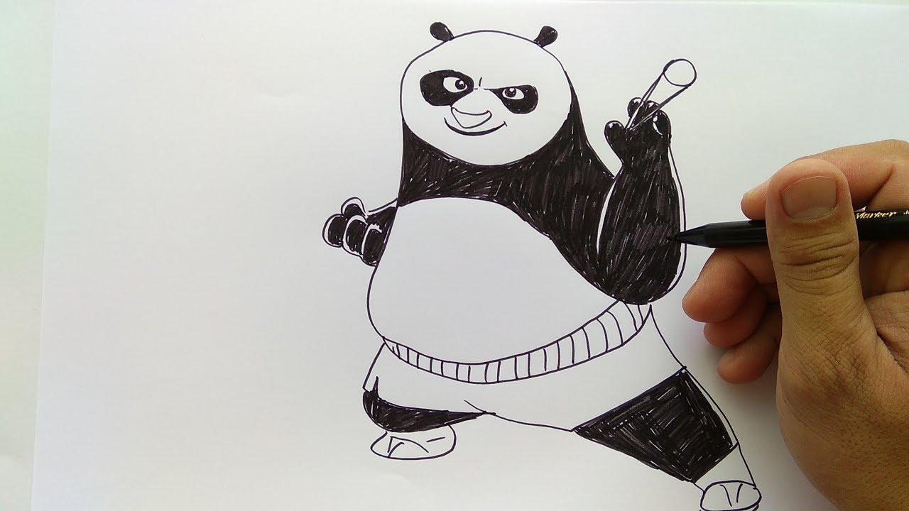 Cara Menggambar Poo Kungfu Panda Youtube