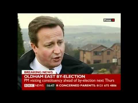 David Cameron forgets name of Oldham by-election candidate