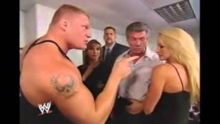 Stephanie, Sable, Brock Lesnar and The Big Show 9/11/2003