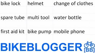 Bike Commuter Items List Night BikeBlogger