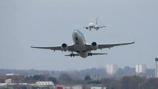 Birmingham Airport BHX Crosswind Landings and Takeoffs 12/04/2015