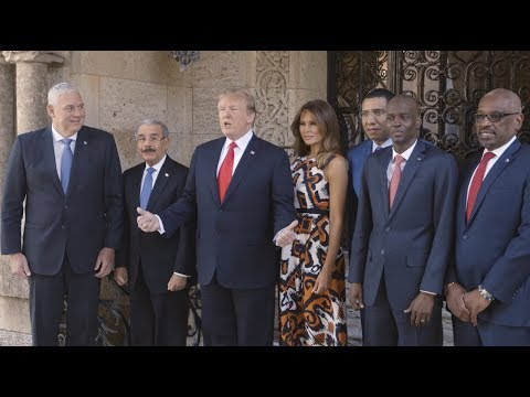 President Trump Meets with Caribbean Leaders at Mar-a-Lago