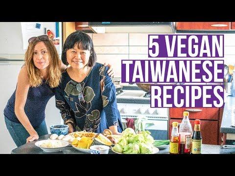 5 Vegan Asian Recipes | Asian Cooking Class in Taiwan 🌿🇹🇼