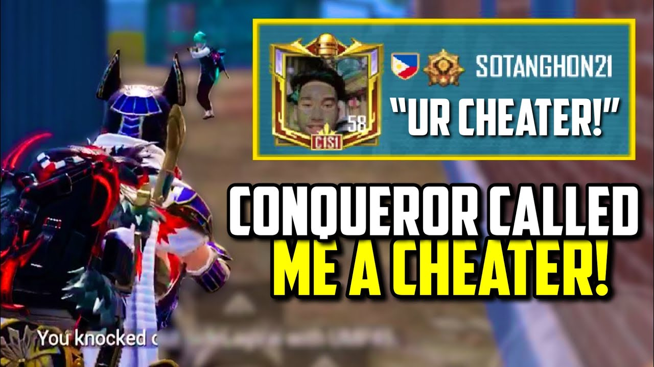CONQUEROR CALLED ME A HACKER ON ALL CHAT AFTER THIS SPRAY!!   PUBG Mobile