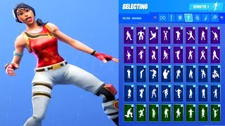 SCARLET DEFENDER SKIN SHOWCASE WITH ALL FORTNITE DANCES & EMOTES