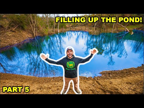 Building A GIANT 2 ACRE POND In My BACKYARD!!! (Part 5)