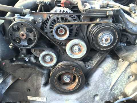 20122014 Subaru Legacy Sedan 36R Serpentine Belt Location Belt Diagram  YouTube