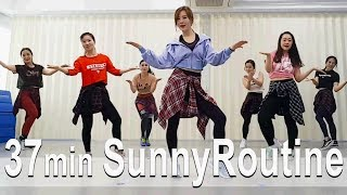 Sunny Routine. 37minute Dance Workout. cardio. Choreo by Sunny. Sunny Funny Zumba. ABS. 댄스. 줌바.