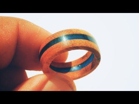 How to make blue Resin and wood ring | resinring | ring | Resincast | resin art | resin craft