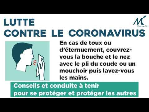 Coronavirus / covid-19: Conseils et conduite à tenir pour se protéger et protéger les autres