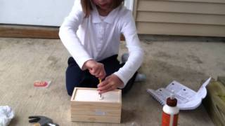 Abby Building Her Treasure Chest