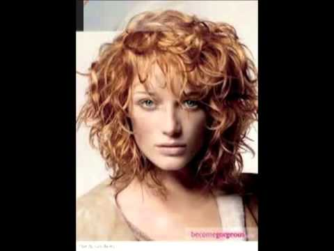 Latest medium curly hairstyles for women 2012 2014 - YouTube