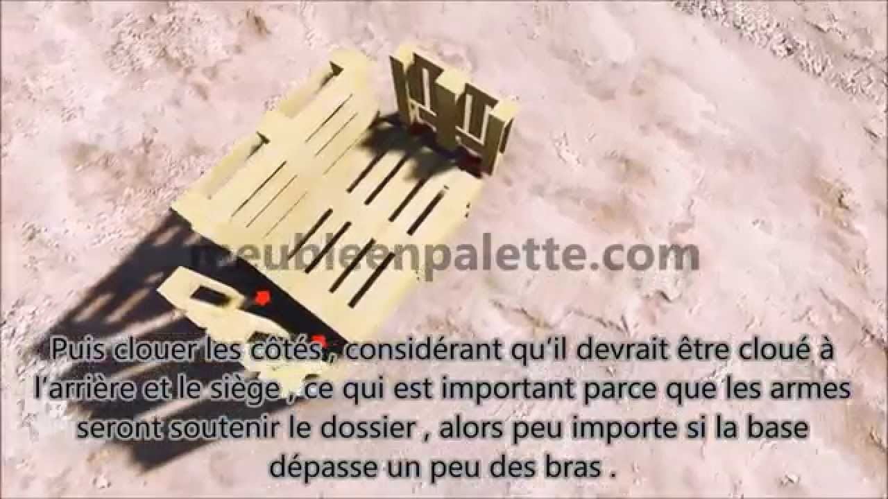 instructions et plans pour faire un canap avec des palettes facilement youtube. Black Bedroom Furniture Sets. Home Design Ideas