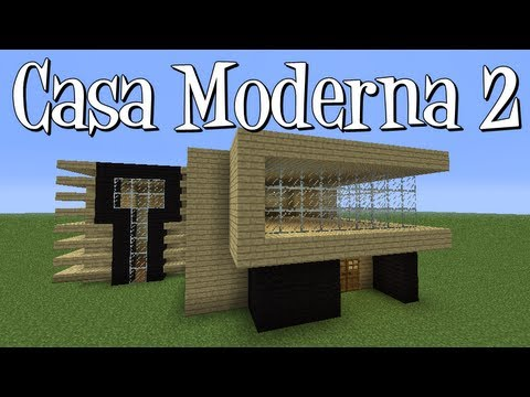Tutoriais minecraft como construir a casa moderna 2 youtube for Casas modernas minecraft faciles