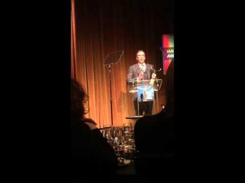 Richard LaGravenese, Acceptance Speech, WGA  Awards 2016, Ian McLellan Hunter Award