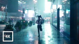 Walking in Heavy Thunderstorm at Night in NYC (Umbrella Binaural 3D Rain Sounds for Sleep) ASMR 4K