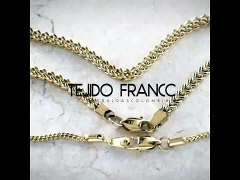 09ee8737383b Cadena Oro Laminado Tejido Franco Esmeraldas Colombia - YouTube