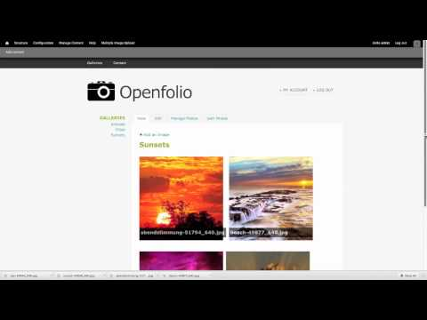 OpenFolio Drupal Distribution