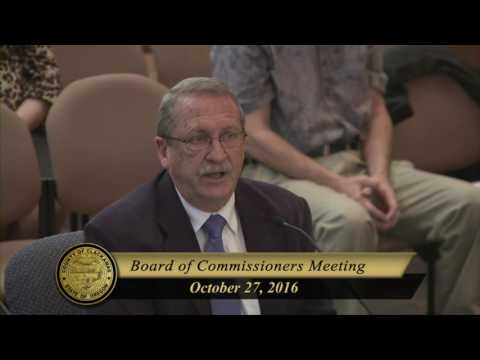Oct. 27, 2016 Board of County Commissioners' Business Meeting
