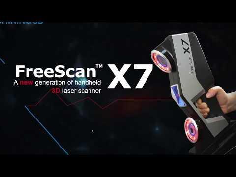 SHINING 3D FreeScan X7 Handheld 3D Laser Scanner (English Description)