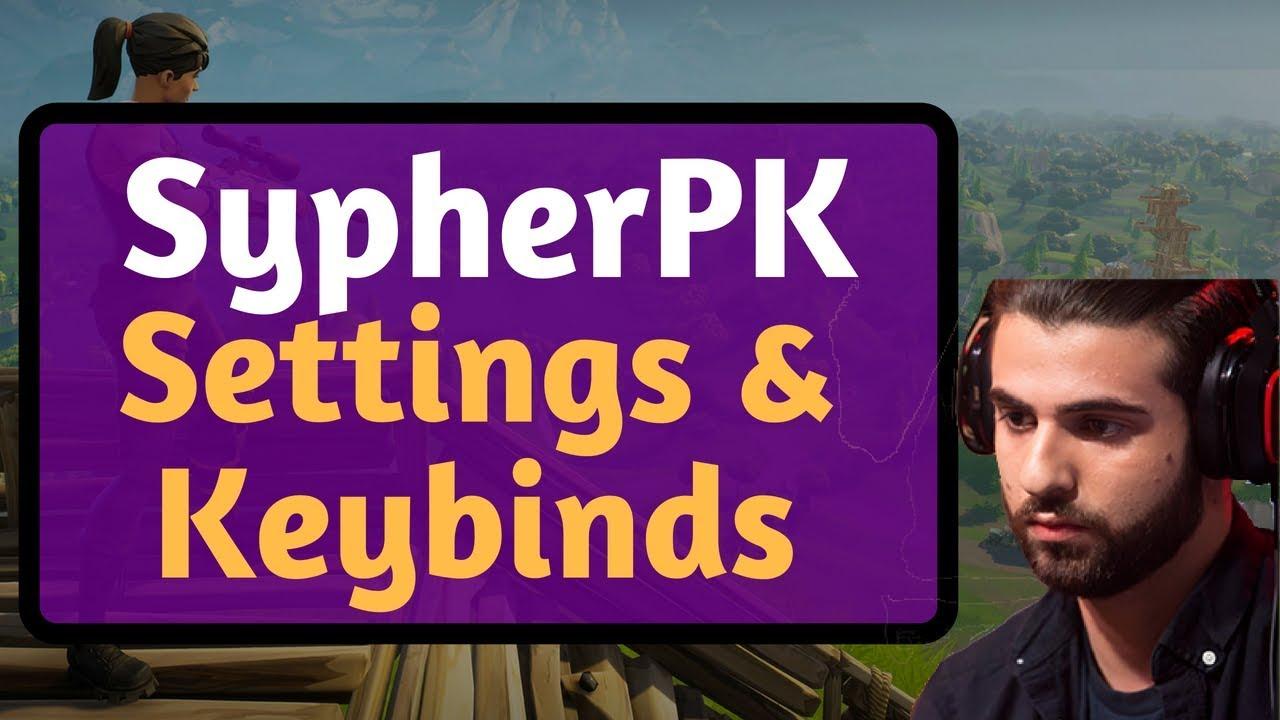 sypherpk fortnite settings keybinds september 2018 - sypherpk settings fortnite