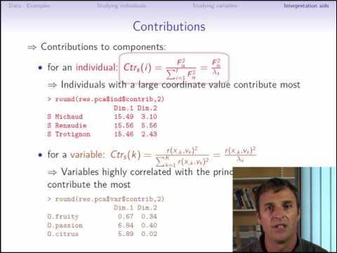 Principal component analysis (part 3/3: interpretation aids)