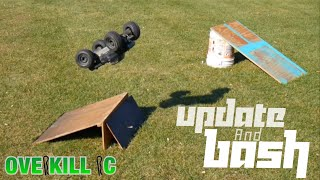 4s LiPo Traxxas Stampede 4x4 UPDATE & RAMP BASH in the Backyard | Overkill RC