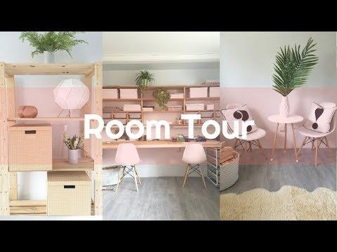 DIY makeover MINIMALIST HOMESCHOOL playroom  room tour