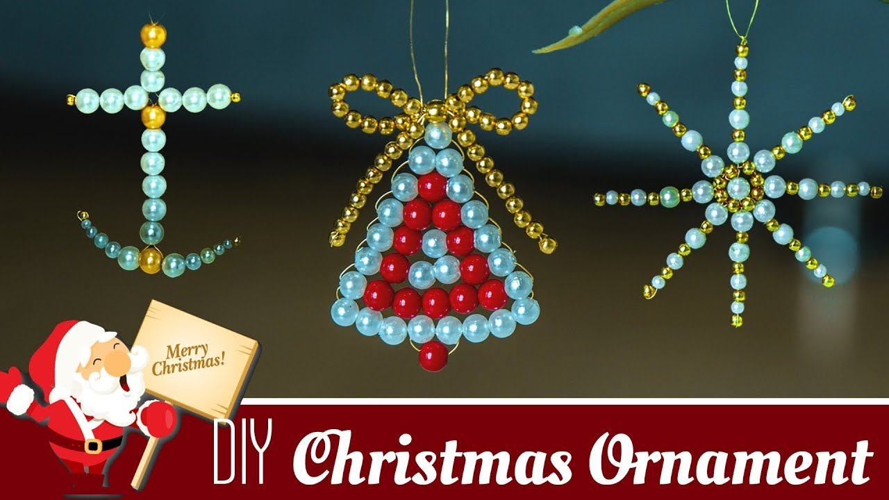 3 diy beautiful christmas ornaments holiday room decor christmas decoration ideas beads art