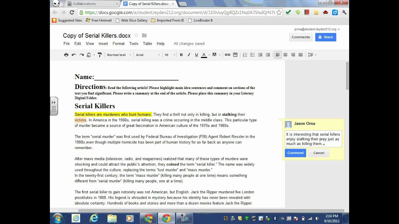 Annotate using google doc youtube annotate using google doc ccuart Image collections