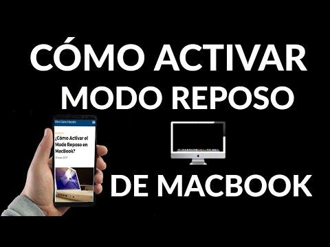 Cómo Activar el Modo Reposo de tu Mac