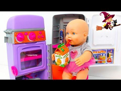 La Bebé Lava Platos y Cocina en una Cocinita Portable