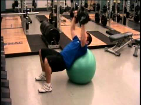 DB Stability Ball Incline Bench Press