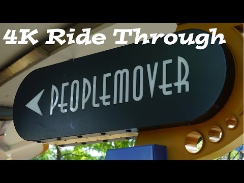 Magic Kingdom's Tomorrowland People Mover On Ride + Space Mountain with the Lights On