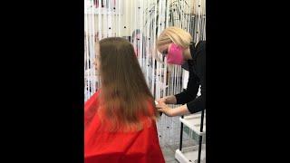 Детская стрижка для модницы мастер Мария салон красоты La Familia salon семейная парикмахерская