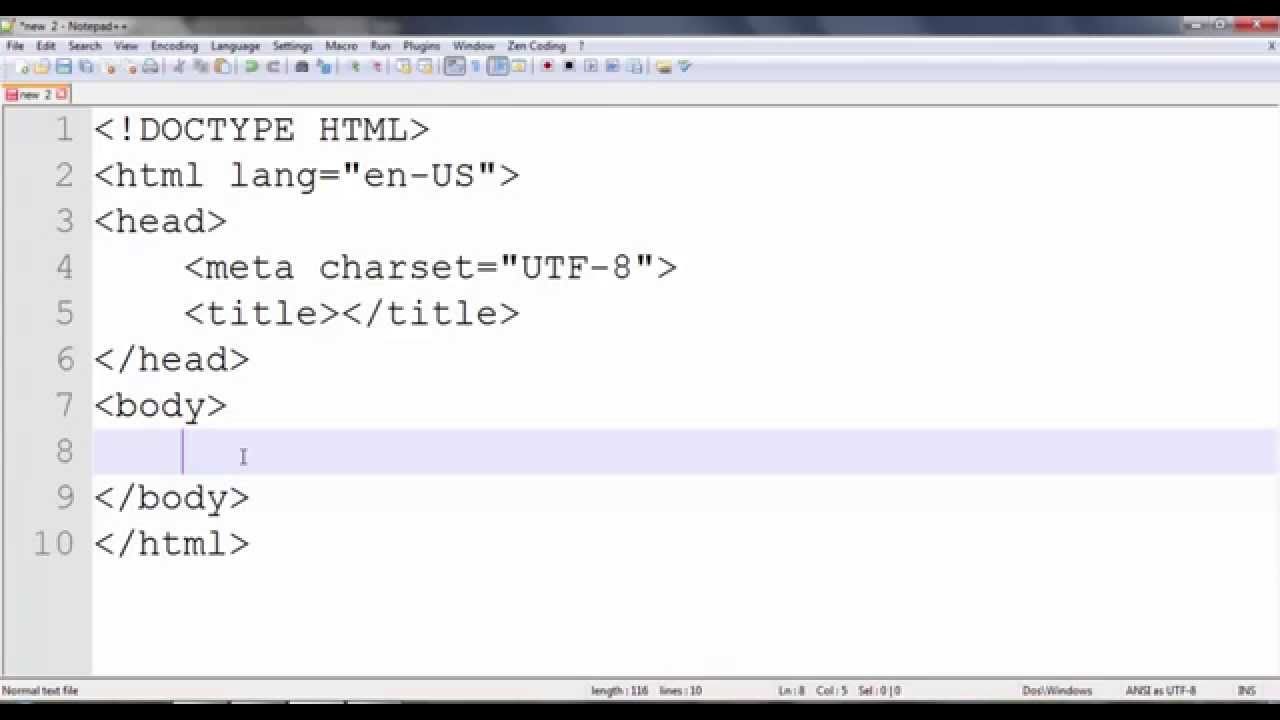 how to make HTML 5 and CSS 3 coding fast in notepad++ in Urdu/hindi