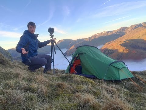 Solo Wild Camping & Landscape Photography On Location - Lake District Cloud Inversion