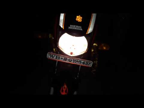 Hero honda cd deluxe full rivew in night (2018)