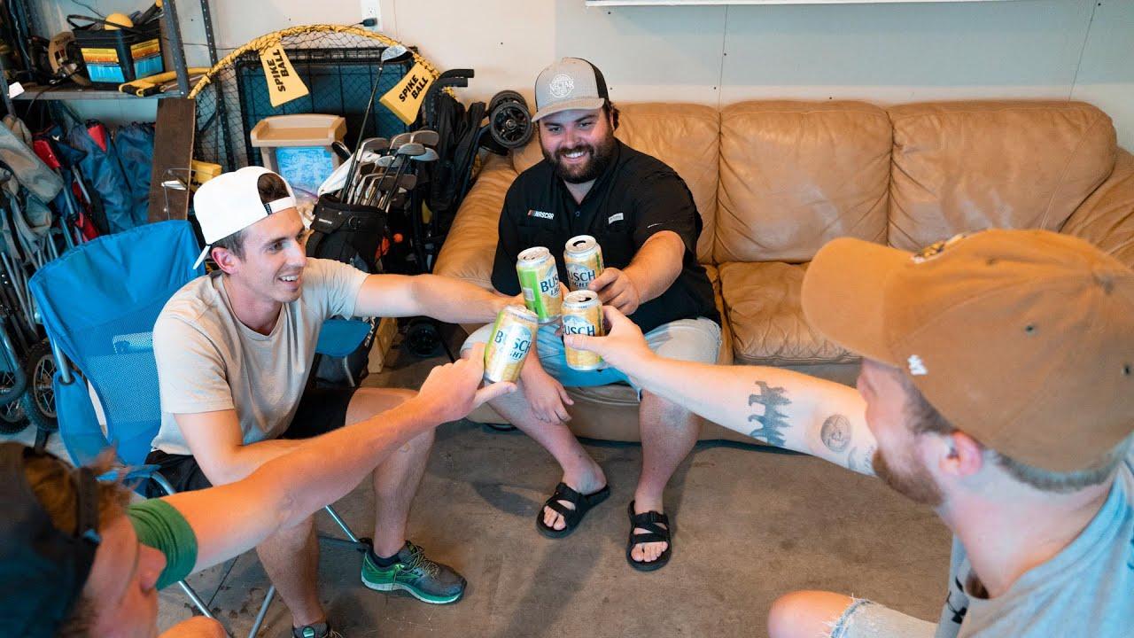 Guys Drinking in the Garage 🍺