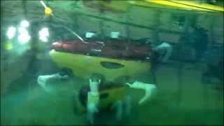 Crabster CR200 underwater walking in Ocean Engineering Basin of KRISO