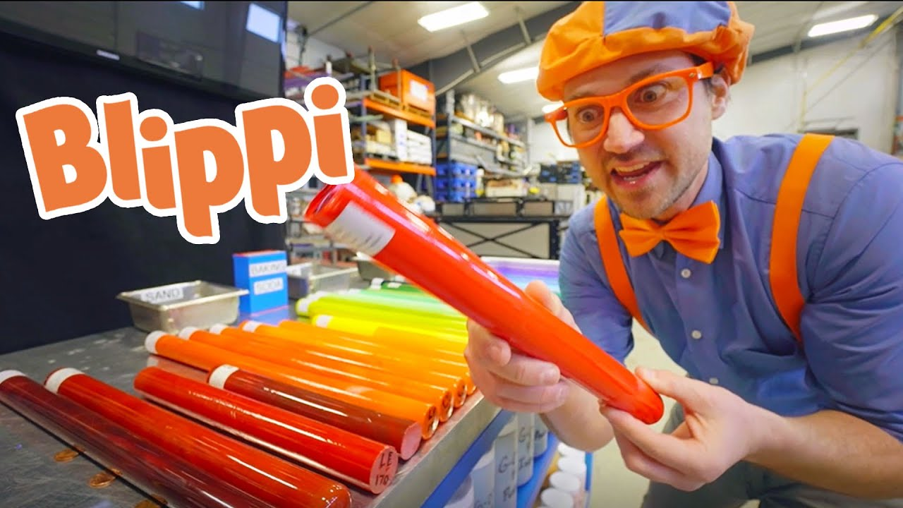 Blippi Goes Glass Blowing! Learning Colors With Blippi | Educational Science Videos For Kids