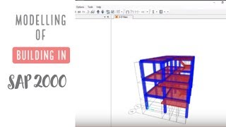 SAP 2000 Tutorial For Beginners [Chapter 3]: Modelling of a Building