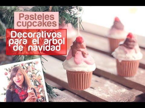 HAZ PASTELES CUPCAKES DECORATIVOS PARA ARBOL DE NAVIDAD RECICLANDO - VIDEO DIY - ADORNOS