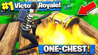 Only ONE CHEST CHALLENGE IN Fortnite Battle Royale!