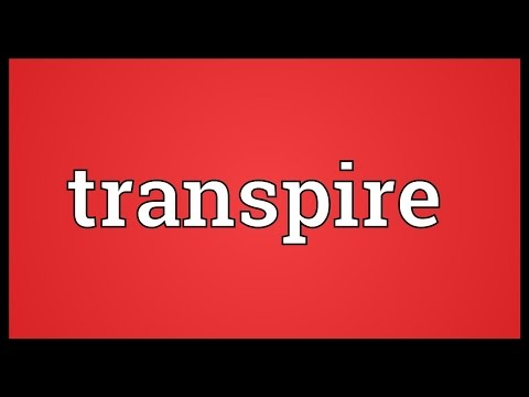 Transpire Meaning