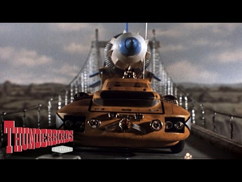 The Bridge Collapses Under The Weight Of The Martian Probe Rocket - Thunderbirds